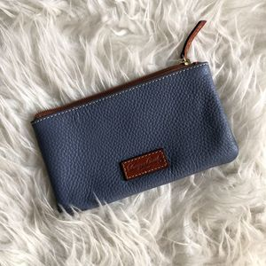 Dooney & Bourke Pebbled Leather Blue Pouch Wallet